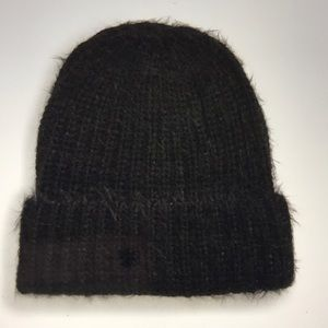 Treasure & Bond Eyelash Beanie Black NWT
